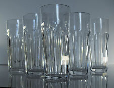Baccarat 6 verres gobelets orangeade cristal taillé modèle Harcourt Talleyrand