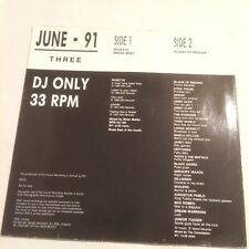 DMC JUNE 91 THREE LP VINYL ROXETTE MIX/ISLAND OF REGGAE MIX