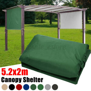 17x6.5Ft Universal Replacement Canopy Top Cover for Pergola Structure Green Tan