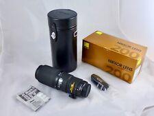 Nikon 200mm F4 micro nikkor Mint latest model