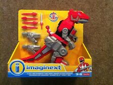 Jurassic World Imaginext T-Rex Zord y Red Ranger muñeco Set (nuevo)