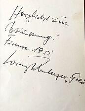 LORENZ FEHENBERGER : GERMAN OPERA TENOR RARE  AUTOGRAPH