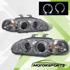 [Dual LED Halo]1992 1993 1994 1995 Honda Civic 2/3Dr Chrome Projector Headlights
