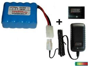 RC Akkupack 12V800 mAh mit Ladegerät, mehrere Optionen...
