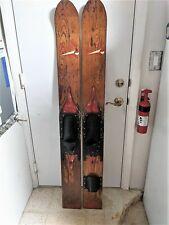 Dick Pope Sr   Vintage Antique Rare Old Wooden Water Skis Waterski  !!