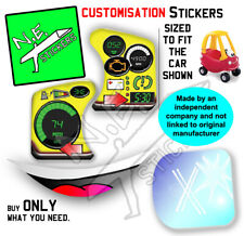 Replacement stickers SIZED TO FIT Little Tikes Cozy Coupe toy car ride-on kids