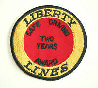 Liberty Lines Bus Employee 2 Years of Safe Driving Cloth Patch New NOS 1970s