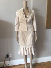 Karen Millen Skirt Suit - UK 10- Champagne / BNWT