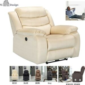 Recliner Chair With USB Port Electric Reclinin Pillow Microfiber Seat SUPER SOFT