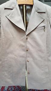 NWT Don Caster Women'sTan 4 Button Up Lined Jacket/Blazer Size Medium