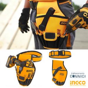Marsupio porta attrezzi da cintura borsa per trapano utensili da lavoro 6 tasche
