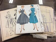 Vintage McCalls 1950s Misses Jumper Dress Pattern #9877 Sz 18 Complete Unused