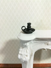 Dollhouse Miniature Chamber Candle Holder 1:12 Scale Black Metal