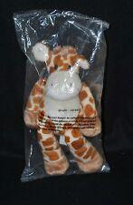 Peluche doudou girafe NICOTOY beige tachetée maron roux 26 cm 100% NEUF