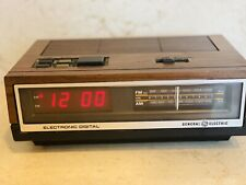 ��Vintage��Ge Am/Fm Electronic Digital Alarm Clock Radio 7-4640A Tested Great!