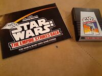 STAR WARS EMPIRE STRIKES BACK by PARKER BROTHERS for ATARI 2600▪︎CART AND MANUAL