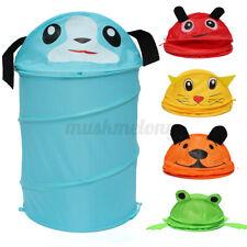 Foldable Cartoon Washing Kid Toy Clothes Laundry Basket Hamper Storage Bag USA