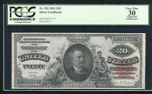 "FR. 320 1891 $20 TWENTY DOLLARS ""MANNING"" SILVER CERTIFICATE PCGS VERY FINE-30"