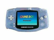 Nintendo Game Boy Advance Glacier Handheld System New Screen Installed!