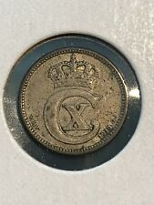 New listing 1914 Denmark 10 Ore Silver Coin, 3/3/17, Free Shipping