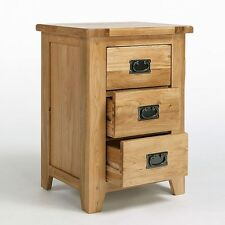 Rustic Oak Bedside Table with Drawers | Solid Light Oak Furniture CB21