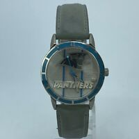 TEAM NFL CAROLINA PANTHERS VINTAGE 1994  WATCH 34mm FOSSIL LEATHER STRAP