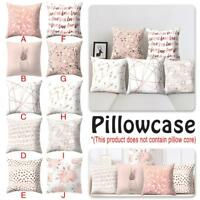Rose Gold One Side Printed Cushion Cover Geometric Throw Pillow Case Decorate hi
