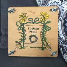 "Vintage Dutch Wooden Adjustable Flower Press ""Bloemen pers"" Made In Holland"