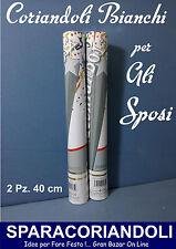 SPOSI SPARACORIANDOLI BIANCHI 2 Pz da 40 cm. MATRIMONIO NOZZE solo CORIANDOLI