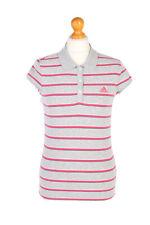 Vintage Adidas Polo Shirt Short Sleeve Tops Essentials WOMEN UK S Grey - PT1167