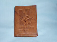 NORTHWESTERN WILDCATS  Leather TriFold Wallet  NEW  brown 1