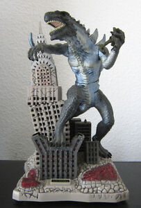 GODZILLA in New York 1998 Action Figur auf Tower mit Sound+Beleuchtung Spardose