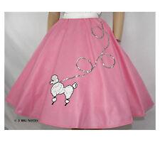 4-Pcs Hot Pink 50s Poodle Skirt Outfit Sz PLUS XL/3X