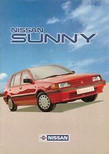 NISSAN Sunny 1987-88 UK Opuscolo Vendite sul mercato L LX SLX GSX COUPE ZX 16 Valvola