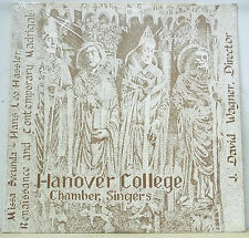 Hanover College Chamber Choir HASSLER Renaissance/Contemporary Madrigals SEALED
