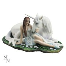 Pure Heart - By Anne Stokes - Unicorn Fantasy Statuette Statue Ornament 24cm