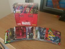 Panini Marvel Trading Cards . Box of 36 (sealed) New + 91 loose cards