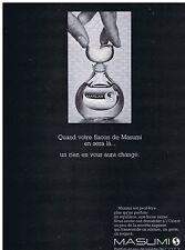 PUBLICITE ADVERTISING 104 1969 COTY Masumi parfum et eau de toilette