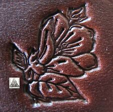 "Discontinued Vintage Midas Floral Flower Bloom 1"" Leather Stamp Tool 8363 New"