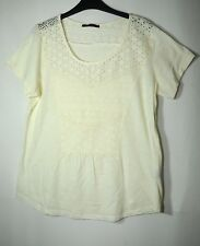 IVORY LADIES PARTY TOP BLOUSE LACE GEORGE SIZE 18 COTTON