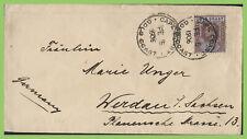 Gold Coast 1906 2½d Edward VII on Cape Coast cover to Germany