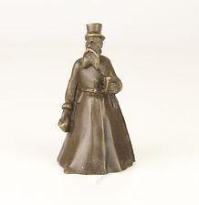 Bronze figürliche Glocke Gentleman Mann mit Bart u. Zylinder neu 99937637-dss