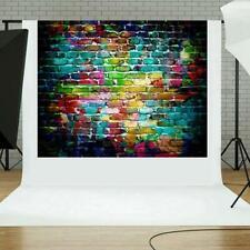 Backdrop Graffiti Brick Wall Art Fabric Backdrop Photography Background