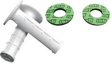 ODI WHITE MXPRO HALF WAFFLE MX GRIPS + GRIP DONUTS FOR KAWASAKI KX 65 85 250 450