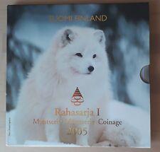 Finland / Suomi Rahasarja 2005 BU set 1 cent / 2 euro munt  - Bedreigde dieren