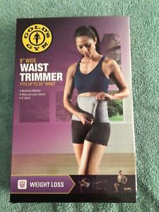 "Gold's Gym 8"" WAIST TRIMMER Belt 50"" Length Exercise Fat Burner Slimming NEW"