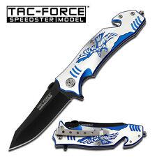 Tac-Force Blue Eagle Rescue Spring Action Assist Assisted Knife Knives #806BL