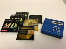 SONY WALKMAN, MINIDISC PLAYER/RECORDER, G-PROTECTION, MZ-R501 + DISCS