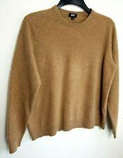 Uniqlo 100% Pure Cashmere Para Hombre Suéter M Camel Beige 464