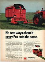 1970 Print Ad of Koehring Fox Model 425 Pull Type Forage Harvester